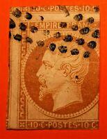 NAPOLÉON N°13A, ,2 belles marges,(TB-1269-1) voisin du haut , oblit Los. Bien