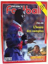 France Football du 11/1/1994; L'affaire Anderson/ PSg-OM/ Abedi Pelé Ballon d'or
