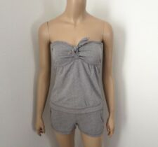 NWT Hollister Womens Strapless Romper Jumper Size Small Gray