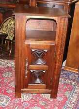 Antique French Oak Louis XIII Small One Door Side Cabinet Living Room End Table
