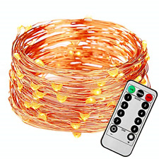FAST DEER 50 Feet 150 Led Fairy Lights Battery Operated with Remote Control 8