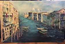 Village On The Canal Oil painting