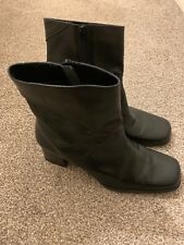 Black Leather Next Womens Heeled Boots Size 8
