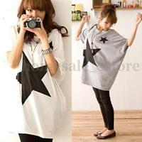 Zanzea Women Blouse Oversized Batwing Sleeve Cotton Tops Casual Print Shirt Plus