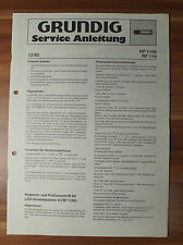 Chassis RF1100 RF110 Grundig Service Manual Serviceanleitung