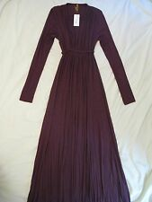 Rachel Pally Long Sleeve Caftan Maxi Dress - Sz S 'Truffle' Eggplant Purple