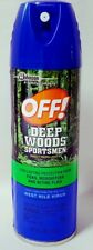 OFF! Deep Woods Sportsmen Insect Repellent 8oz Repels Mosquitoes HIGH 30% DEET