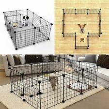 Pet Playpen Dog Cat Rabbit Puppy Pig Play Pen Cage Folding Run Fence Crate Wire