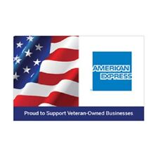 """American Express Veterans Decal Sign Set of 5 Boutique Stickers 5"""" x 3.25"""""""