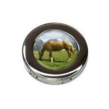 Grazing Haflinger Horse Foldable Purse Handbag Hook Hanger Holder