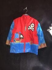 Boys Rain Coat & Umbrella Set Size 3T, Stephen Joseph, Pirates, NWT, Blue Red