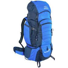 Highlander Expedition 85 Trekking Backpack Travel Rucksack Hiking Pack 85L Blue