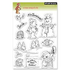 PENNY BLACK RUBBER STAMPS CLEAR XMAS SNAPSHOTS NEW clear STAMP SET