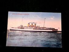Vintage C.P.R. S.S. Princess Marquerite Steamship Steamer Early Postcard P25