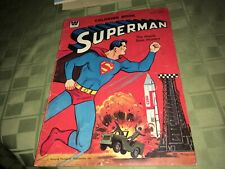 Superman 1965 Whitman Missile Base Mystery USED Coloring Book