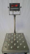 300 LB BALL BEARING TOP NTEP LEGAL FOR TRADE DIGITAL BENCH SCALE 16x16 PLATFORM