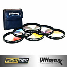 6 Piece Professional Gradual Color Filter Kit 82mm with Protective Wallet