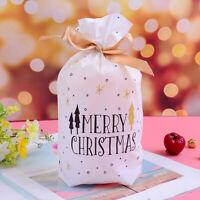 10pcs árbol Navidad Bolsas de Regalo de Feliz Navidad bolsa de Bolsa de galletas