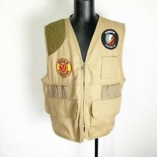 Saftbak Hunting Vest Duck Canvas Savage Ruger Gun Patches Large/XL Brown Vintage