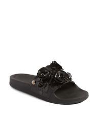 fa23685c52c723 NIB Tory Burch Blossom Slide Sandal Black  200 New in box Size 5