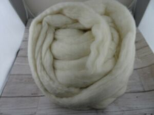 Merino Wool Combed 21 micron Top Natural White For Hand Spinning - 500gm