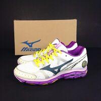 Mizuno Wave Rider 17 Women's White Purple Running Shoes Trainers Size UK 3/EU 35