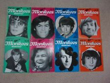 8 x MONKEES MAGAZINES Missing Nos 1 & 9 PLEASE BUY THESE NOW Bargain
