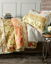 GARDEN DREAM Full / Queen QUILT : COUNTRY COTTAGE RAG PATCH FLORAL COMFORTER