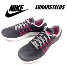 uk availability 763fb 03f39 NIKE DAMEN Lunarstelos Laufschuhe Turnschuhe Mädchen Grau Pink UK 4.5 Eu 38