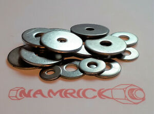 Penny Washers Stainless Steel A2. M4,M5,M6,M8,M10,M12. Mudguard Washers