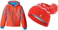 Spyder Girls 2pc Set Dreamer Ski Jacket and Prism POM Beanie Hat Size M(10-12)
