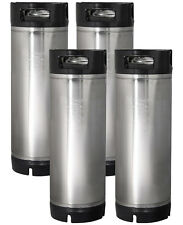 Set of 2 - Kegco 5 Gallon Home Brew Ball Lock Keg Rubber Handle Beer Soda