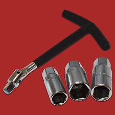 """4 Pcs. 3/8"""" Empuñadura-t la Llave para Bujías 16mm 18mm 21mm Bujía Articulada"""