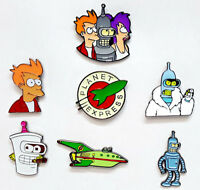 "Futurama TV Series 1"" Metal Pin Collection —> Your Choice of 7 Pins"