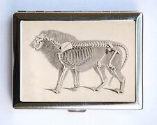 Animal Anatomy Lion Skeleton Cigarette Case Wallet Business Card Holder