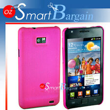 Premium PINK MESH Hard Cover Case For Samsung Galaxy S2 i9100 + Screen Protector