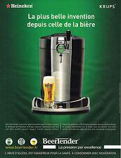 PUBLICITE ADVERTISING 045  2006  HEINEKEN & KRUPS le BEERTENDER  pour bière