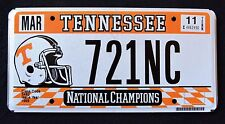 "TENNESSEE "" NATIONAL FOOTBALL CHAMPIONS ""  TN Sport Specialty License Plate"