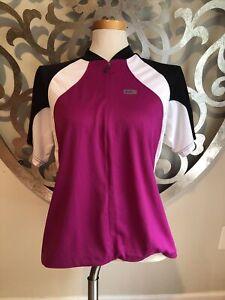 Louis Garneua Cycling Jersey XXL Ladies Full Zip Pockets Pink