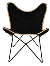 Soft Seat Black Chair Iron Stand With Leather Cover for Indoor Outdoor