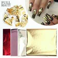 Nail Art 3D Sticker Foils Holographic Mirror Colorful Thin Paper DIY Decoration