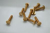 10 brass UK made 5/32 Whitworth 3/4 inch knurled gallery screw light lamp TY2