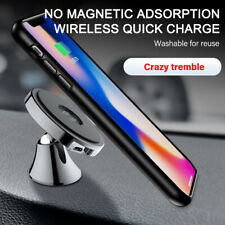 10W Wireless Fast Charger Car Mount Holder Magnet Stand For iPhone X XS Samsung