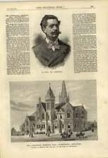 1879 The Stephenson Memorial Hall Chesterfield M Paul De Cassagnac