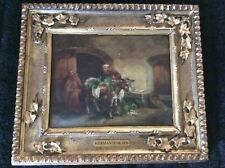 Antique Oil Painting 19th Century Herman Tenkate