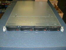 Supermicro 1U Server X8DTU-F 2x Xeon X5650 2.66ghz Hex Core  32gb  DVD  4x Trays