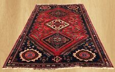Authentic Hand Knotted Vintage Sheraz Wool Area Rug 7 x 5 Ft (1743)