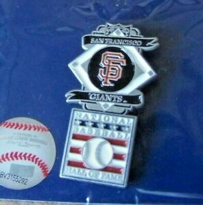 SF San Francisco Giants National Baseball Hall of Fame pin MLB c38964