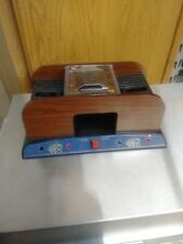 Two Deck Wooden Looking Automatic Card Shuffler