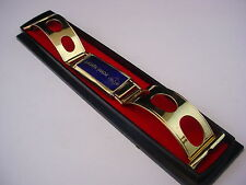 Rare 22mm Gold Tone Rowi Sport Rally Style cuff watch band Oval Made in Germany
